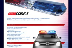 Code 3 esg asia pacific code3 excalibur lightbar mozeypictures Choice Image