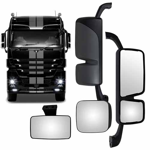 mirror head and spotters to suit mercedes actros mp3. Black Bedroom Furniture Sets. Home Design Ideas