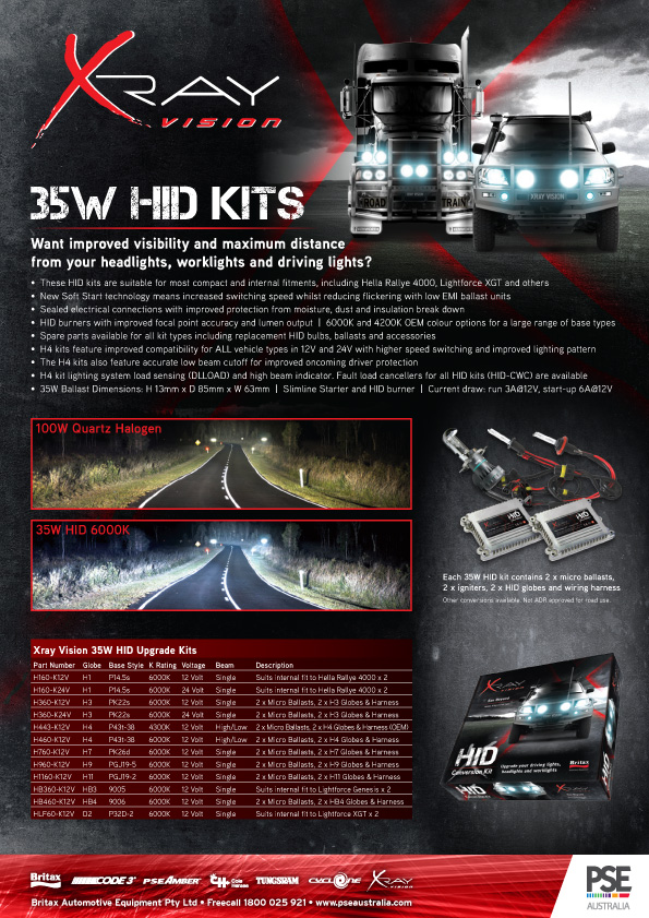 Xray Vision 35W and 50W HID Conversion kits - ESG Asia Pacific on