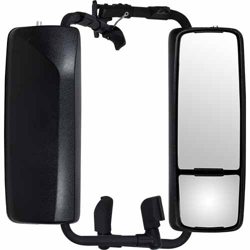 ABS Body Electric Mirror Head and  Steel Brackets to suit Volvo VN Series Trucks 24V