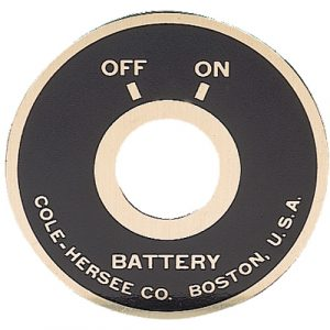 Battery Master Switch Faceplate