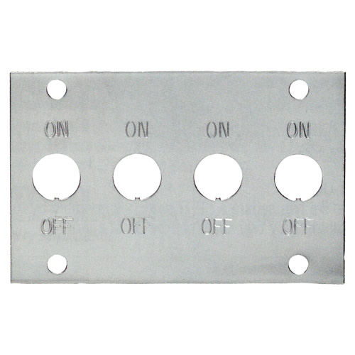 Toggle Switch Gangplate Chrome Plated