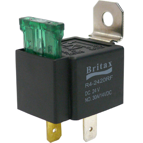 SPST 4 Pin 30A Automotive Fused Relay