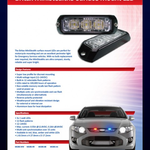 Britax MiniStealth3 Surface Mount LED
