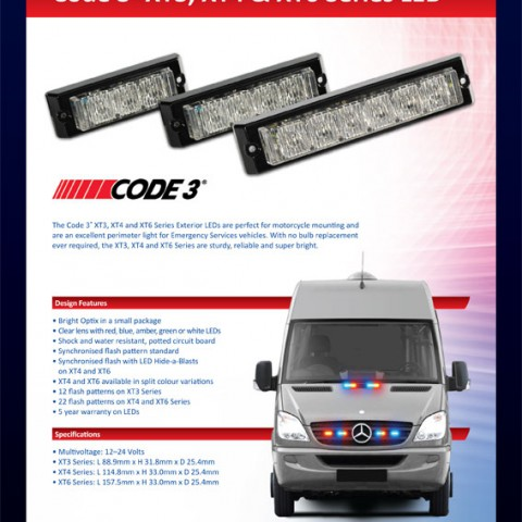 Code3 XT Series LED Red Blue