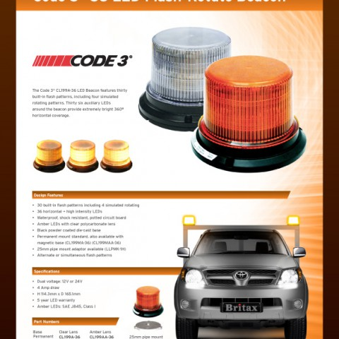 Code3 Flash-Rotate CL199 36 LED beacon