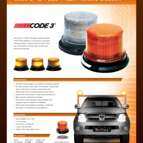 Code3 Flash-Rotate CL199 24 LED beacon